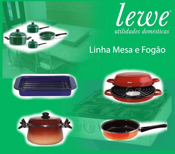produtos esmaltados LEWE para mesa e fogao